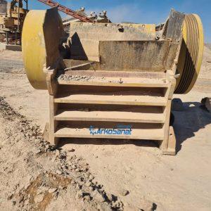 فروش دستگاه سنگ شکن فکی ثانویه 125 در 30 کارکرده با قیمت مناسب